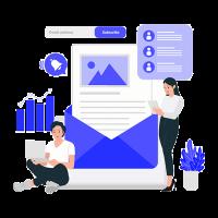 Email Marketing Himanshu Ganoliya Blue Transparent