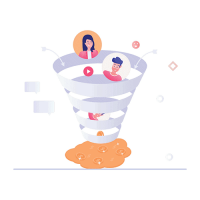 email funnel small transparent